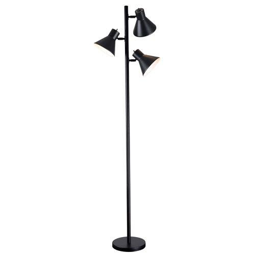 Kenroy Home Ash Black Three-Light Tree Lamp