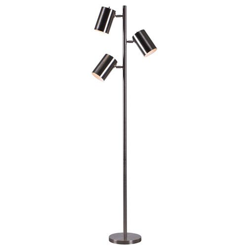 Beech BRUSHED STEEL Three-Light Tree Lamp