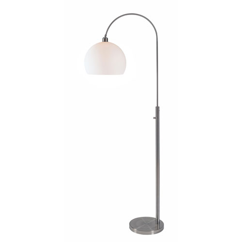 Gateway Brushed Steel 30-Inch One-Light Arc Floor Lamp