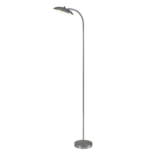 Kenroy Home Cheshire Brushed Steel 20-Inch LED Torchiere