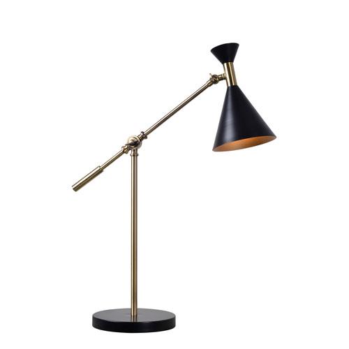 Arne Black and Antique Brass 8-Inch One-Light Desk Lamp