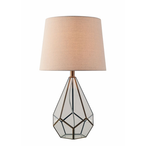 Gemma Burnished Antique Metal 15-Inch One-Light Table Lamp