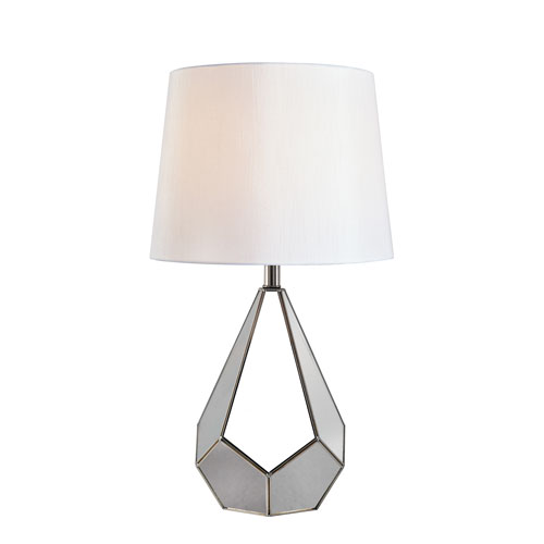 Gemma Stainless Steel 15-Inch One-Light Table Lamp