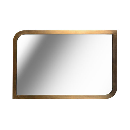 Swoop Painted Brass 24-Inch  Wall Mirror