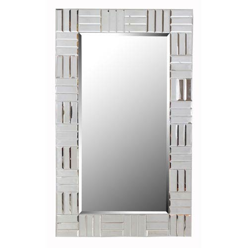 Kenroy Home Sparkle Glass Rectangle Wall Mirror