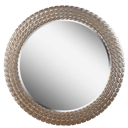 Kenroy Home Bracelet Brushed Silver and Gold Round Wall Mirror