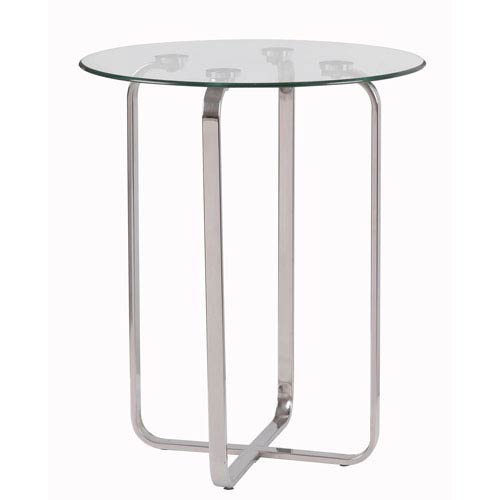 Arpeggio Stainless Steel  Accent Table