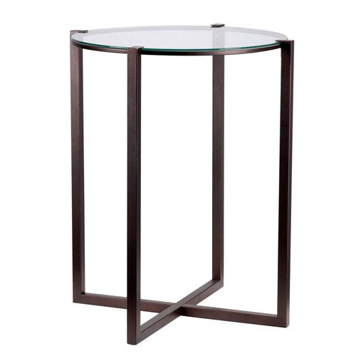 Lodin Satin Bronze  Accent Table