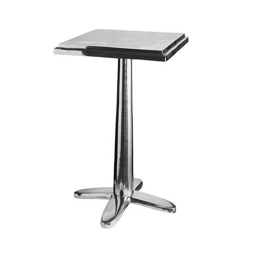 Cafe Polished Aluminum  Accent Table