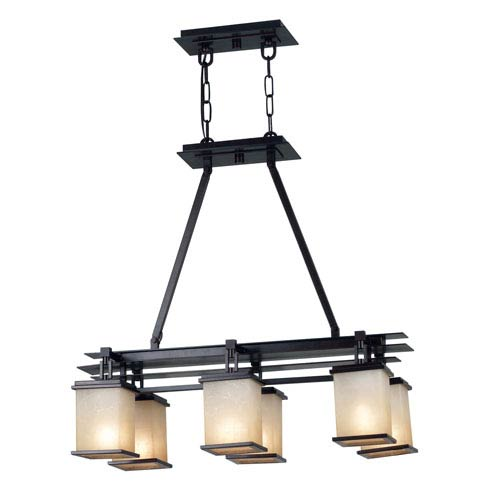 Plateau Oil Rubbed Bronze Six Light Island Light