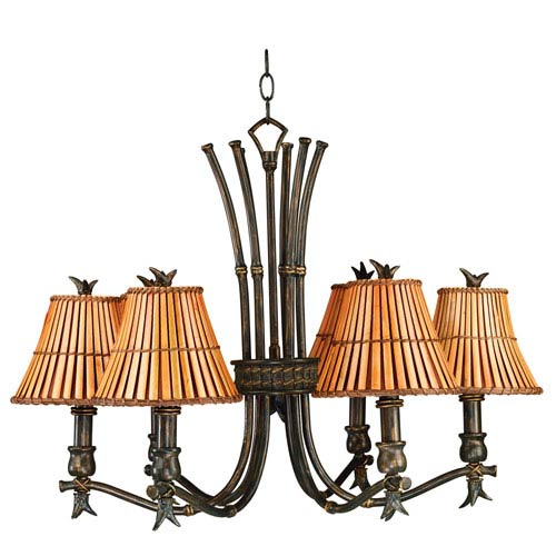Kwai Bronze Heritage Six Light Chandelier
