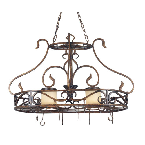 Verona Two-Light Pot Rack