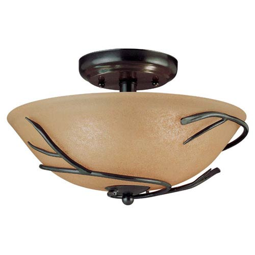 Twigs Small Semi-Flush Ceiling Light