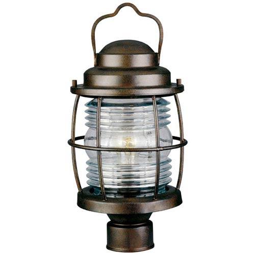 Beacon Gilded Copper Outdoor Post Lantern
