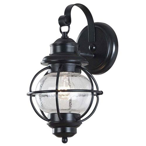 Hatteras Small Black Outdoor Wall Mounted Lantern