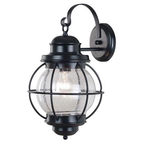 Hatteras Large Black Outdoor Wall Mounted Lantern