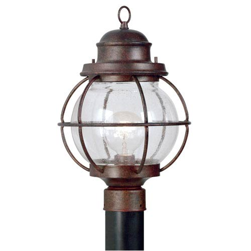 Kenroy Home Hatteras Gilded Copper One-Light Post Mounted Lantern