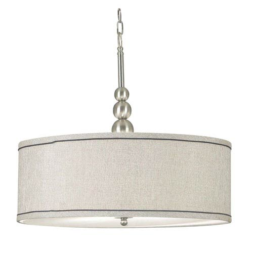 Margot Brushed Steel Three-Light Pendant