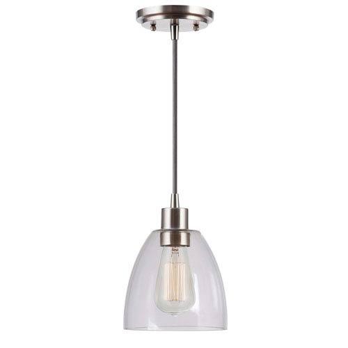 Edis Brushed Steel One-Light Mini Pendant