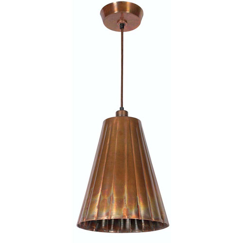 Kenroy Home Flute Flamed Copper One-Light Pendant