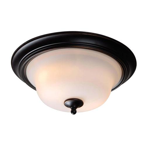 Kenroy Home Basket Oil Rubbed Bronze Two-Light Flush Mount