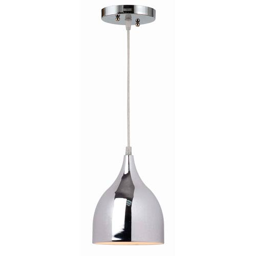 Kenroy Home Gabe Chrome One-Light Mini Pendant
