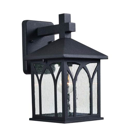Canterbury Black One-Light Outdoor Wall Lantern