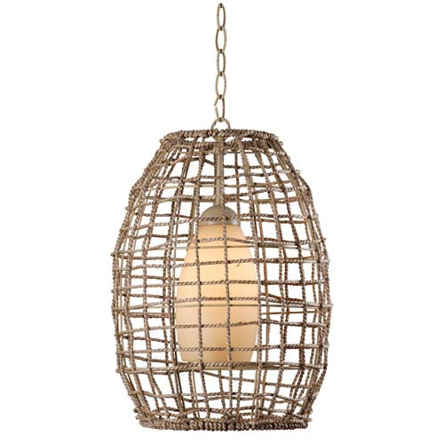 Seagrass Tan One-Light Pendant