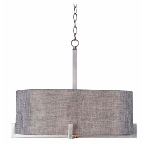 Wiley Brushed Steel Four-Light Pendant