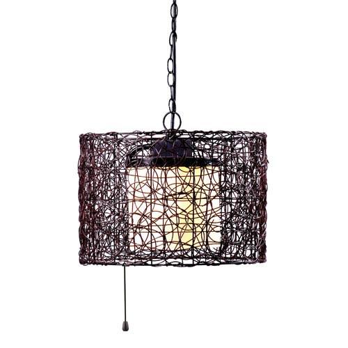 Kenroy Home Tanglewood Black Single Light Outdoor Pendant