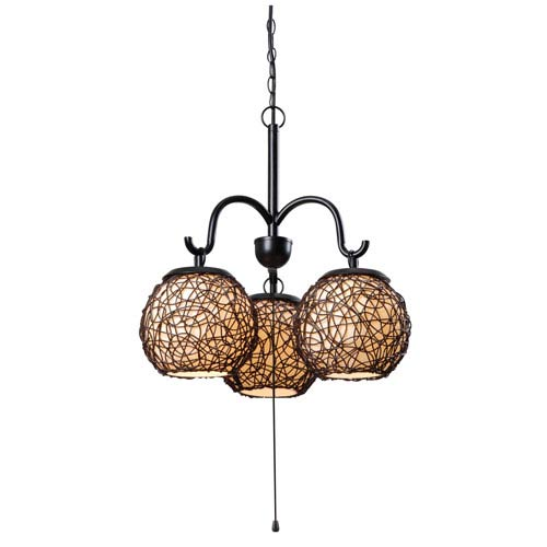 Kenroy Home Castillo Bronze Three-Light Outdoor Pendant