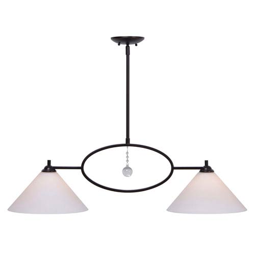 Kenroy Home Ollie Oil Rubbed Bronze Two-Light Island Pendant