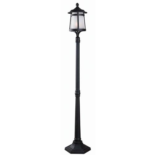 Black One-Light Outdoor Post