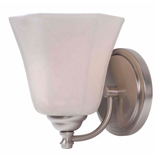 Woodhill Brushed Steel One-Light Wall Sconce