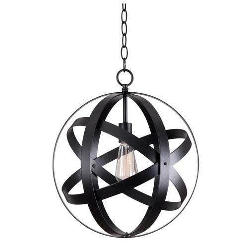 Global Black One-Light Pendant