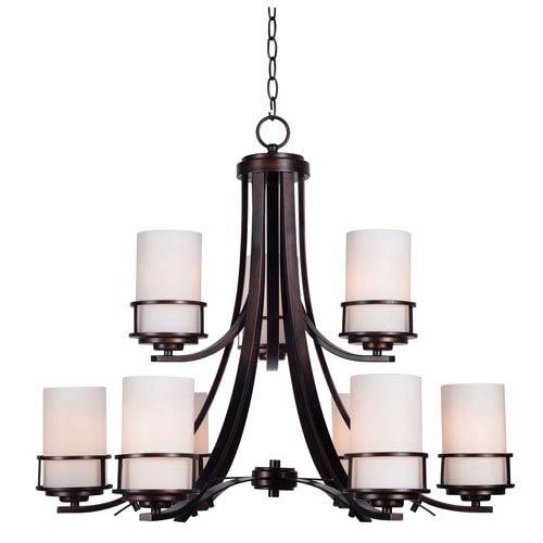 Theo Polished Copper Nine-Light Chandelier