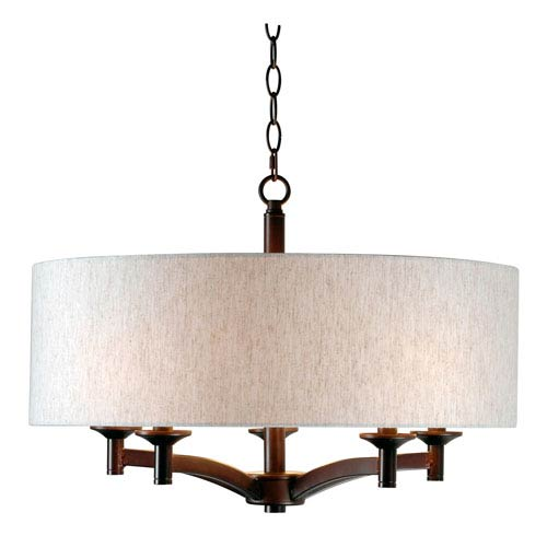 Rutherford Oil Rubbed Bronze Five-Light Pendant
