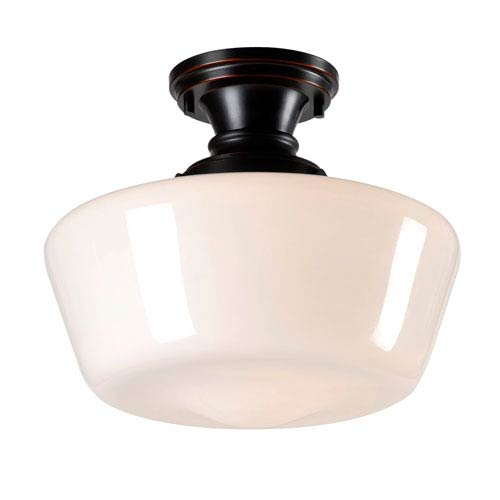 Cambridge Oil Rubbed Bronze One-Light Flushmount