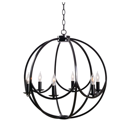 Kenroy Home Onyx Darkened Bronze 21-Inch Six-Light Chandelier