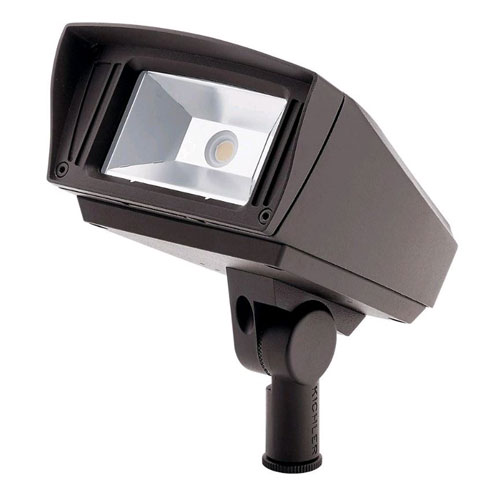 Landscape LED Textured Architectural Bronze Six-Inch One-Light LED Landscape Light