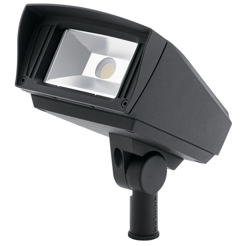 Kichler Textured Black 120-277V 1000 Lumen 3000K LED Landscape Flood Light