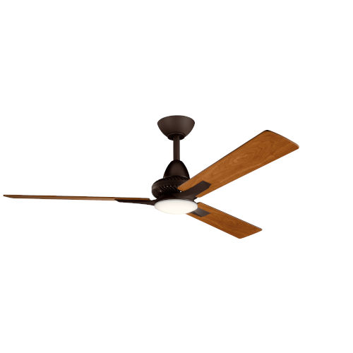 Kosmus Satin Natural Bronze 52-Inch LED Ceiling Fan