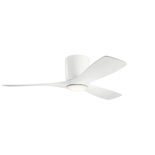 Volos Matte White 48-Inch LED Ceiling Fan
