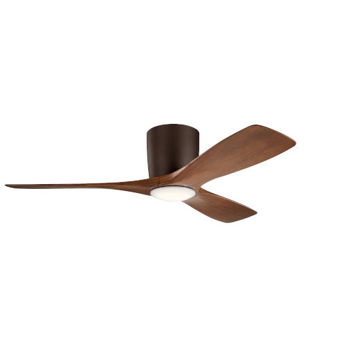 Volos Satin Natural Bronze 48-Inch LED Ceiling Fan