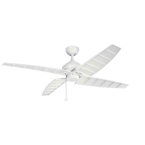 Surrey Matte White 60-Inch Ceiling Fan