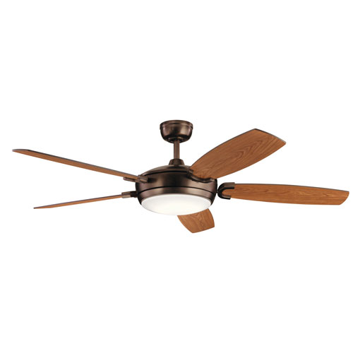 Trevor Oil Brushed Bronze LED Ceiling Fan