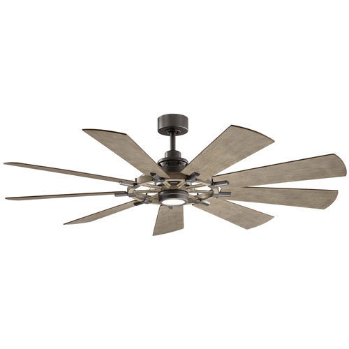 Gentry Anvil Iron 65-Inch LED Ceiling Fan