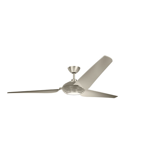 Voya Brushed Stainless Steel 84-Inch LED Ceiling Fan