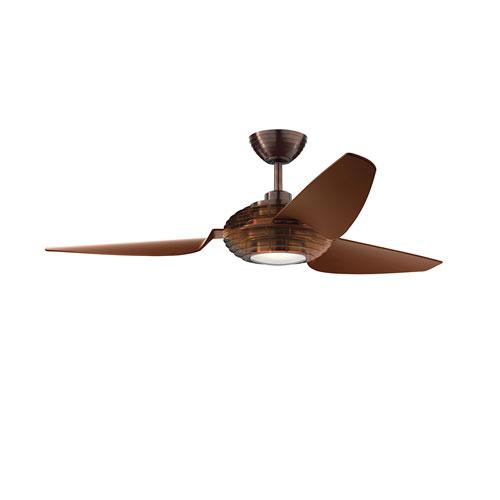 Voya Oil Brushed Bronze 60-Inch LED Ceiling Fan