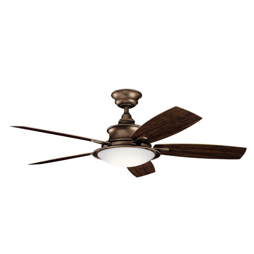 Cameron Weathered Copper Powder Coat 52-Inch LED Ceiling Fan